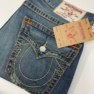 True Religion Distressed Blue Jeans